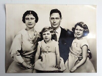 The Royal Family Portrait 1936 Real Photograph By Marcus Adams Queen King • 20£