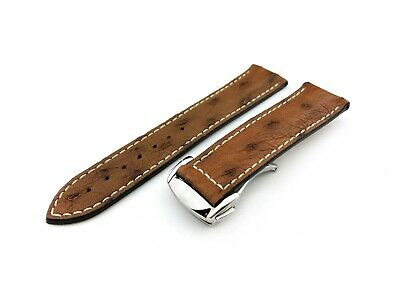 BROWN SPOTTED Flat Genuine Leather Strap Fit OMEGA Watch  20 22mm + Tools&pins • 24.50£
