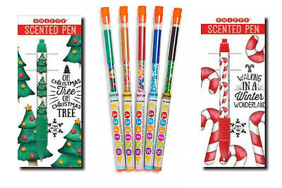 Snifty Xmas Scented Pens & Pencils Set - 2 Pens - 5 Pencils - Stocking Filler  • 11.99£