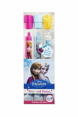 Disney Frozen Scented Glitter Gel Pens - Rock Candy, Suger Plum, Marshmallow • 7.99£
