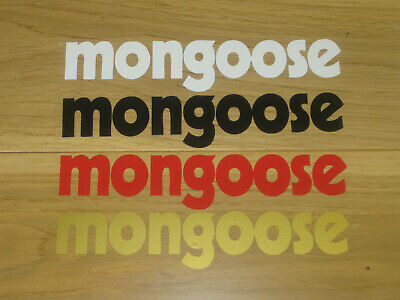 £4.49 • Buy 2 MONGOOSE BMX Stickers Custom Sizes Colours Cycling Decals Frame Forks Bike