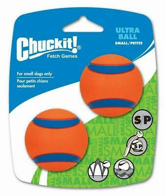 Chuckit Small Ultra Ball Tough Dog Puppy Rubber Bounce Floating Toy - 2 PACK • 9.97£