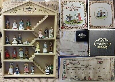 Franklin Mint Woodmouse Family, 24 Figurines W COA, Family Tree 1985 & Book 1980 • 59$