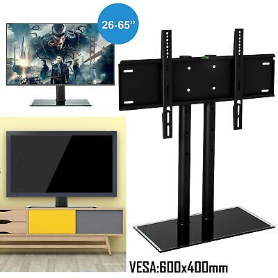Table Top TV Stand Base W/ Universal Swivel Mount Bracket For 37 -65  LCD Screen • 29.69$