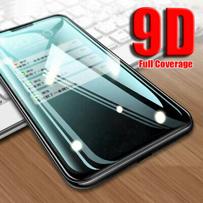 AU3.66 • Buy For OnePlus 9 8 7 Pro 6 5T 9D Curved Full Cover Tempered Glass Screen Protector