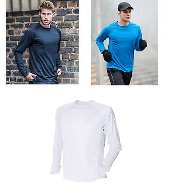 Gents Tombo Long Sleeve Running Sports Top Mens Base Layer T-Shirt TL531 • 3.99£