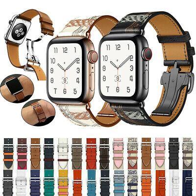 $ CDN20.29 • Buy Luxury Bracelet New Grid Strap Leather Watch Band For Apple Watch Series 5 4 3 2