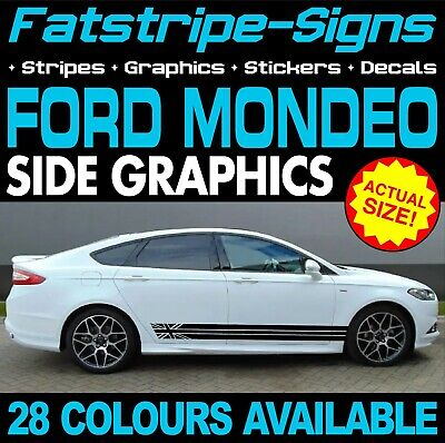 Ford Mondeo Graphics Stripes Stickers Decals Car Vinyl Titanium X Sport Zetec St • 24.99£