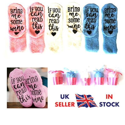 Thermal Novelty Funny Socks If You Can Read This Bring Me Wine  • 3.49£
