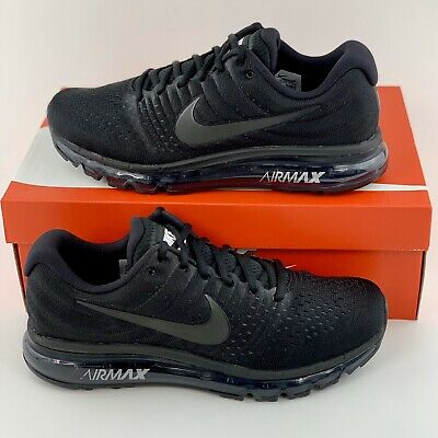 Nike Air Max 2017 Triple Black Men's Running Shoes 849559 004 New In Box • 149.99$