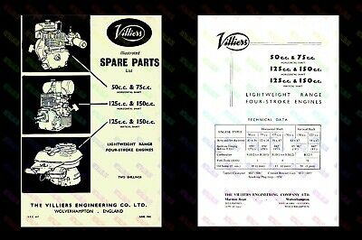 Villiers Lightweight Engine Illustrated Spare Parts List - VEC617 - Spiral Bound • 6.75£
