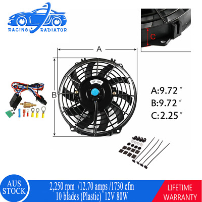 AU64 • Buy 9 Inches Pull/Push Radiator Thermo Fan+Mounting Kit+Relay For Holden/Ford/Navara