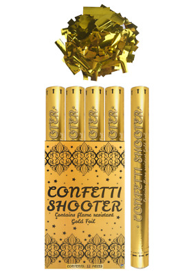 £8.95 • Buy Confetti Shooter Gold Foil 50cm 80cm Compressed Air Cannon Party Wedding Popper