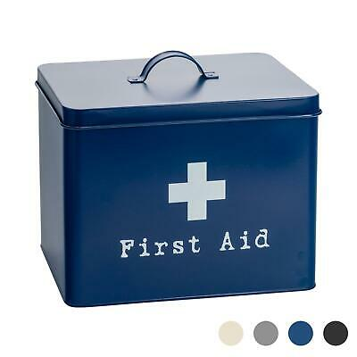 £16.49 • Buy First Aid Box Empty Emergency Medical Survival Kit Storage Case 2 Tier Navy