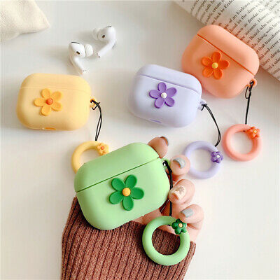 $ CDN10.71 • Buy 3D Flower Airpods Pro Silicone Case Cover For Apple Airpods Earbud Charging Box