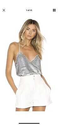 $ CDN165.41 • Buy Ernet Cami In Silver IRO Camisole Sequins Holiday 40/8 SOLD OUT
