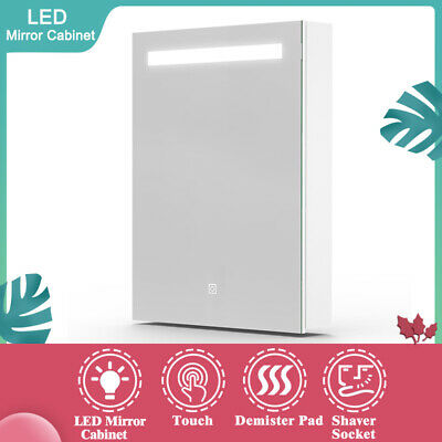 Led Bathroom Cabinet With Mirror Lighted Shaver Socket Or MDF Mirror Cabinet • 61.99£