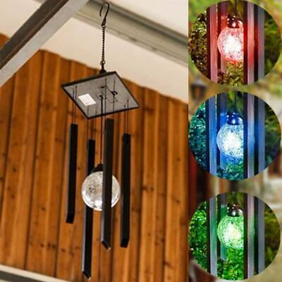 Colour Changing Solar Wind Chime Outdoor Garden Wind Spinner Led Light Windchime • 10.69£
