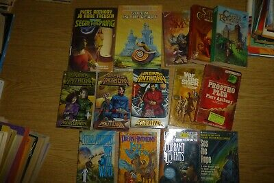 Piers Anthony Lot Of 14 Books Xanth/Bio Of A Space Tyrant/pbs + 2 Hc • 39.99$