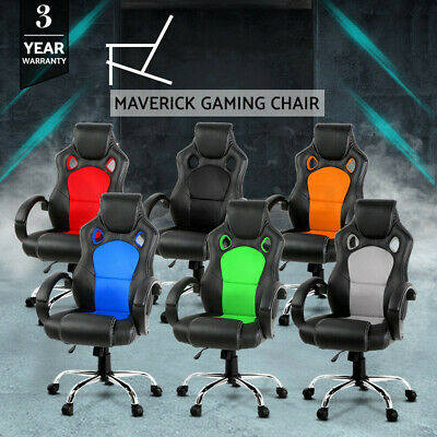 AU118.99 • Buy Gaming Chair Office Computer Leather Chairs Racer Executive Seat Mesh