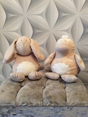 Pair Of MAMAS & PAPAS Cuddly Soft Toys - Excellent Condition • 9£