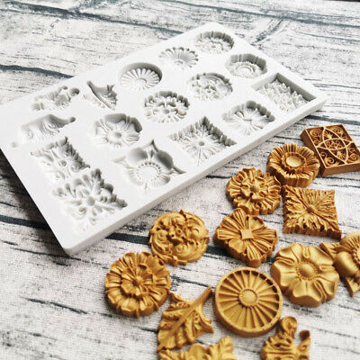 Brooch Jewelry Silicone Cake Fondant Mold Cupcake Decor Chocolate Topper Mould • 7.59£