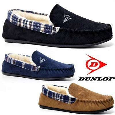Mens Moccasins Slippers Loafers Faux Suede Sheepskin Fur Lined Winter Shoes Size • 15.95£