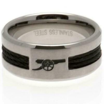 £20 • Buy Arsenal FC Stainless Steel Black Inlay Ring Size X