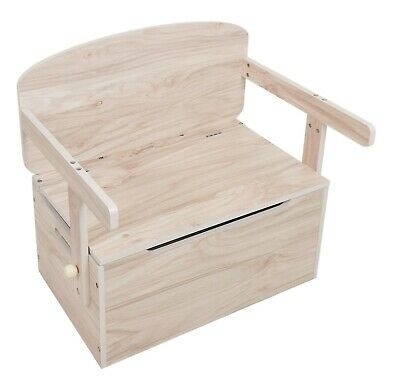 Kiddi Style Wooden 3in1 Convertible Toy Box Bench Organiser Kids Storage Unit   • 39.99£