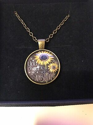You Are My Sunshine Bronze Tone Necklace Rd11 With Gift Bag • 2.40£