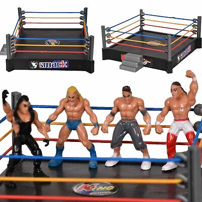 Kids WWE Smack Down RAW Wrestlers Playset 12 Superstar Action Figure Fight Ring • 7.99£