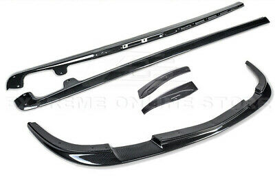 ZR1 Style HYDRO CARBON FIBER Front Lip Side Skirts For 05-13 Corvette C6 Z06 • 549.98$