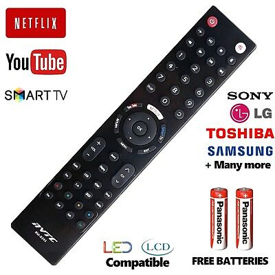 Universal Remote Control LG Sony Toshiba Samsung + Smart TV 3D LCD LED HD TV  • 4.95£