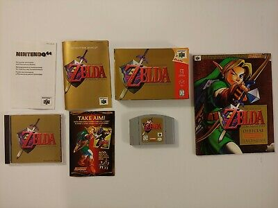 $120 • Buy Zelda: Ocarina Of Time, N64, CIB, Players Guide, Soundtrack, Authentic, Tested