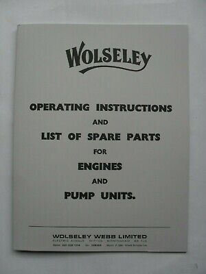 £8.50 • Buy Wolseley Operating Instructions & List Of Spare Parts For Engines & Pump Units
