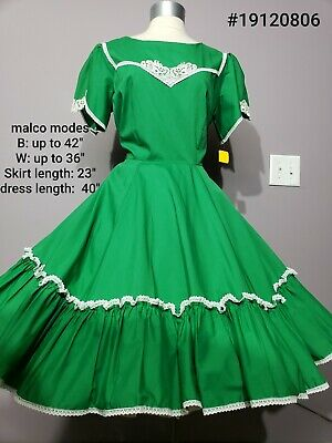 Gorgeous White & Green Christmas Holiday Square Dance Dress 20 • 15$