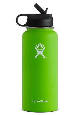 Hydro Flask Wide Mouth Stainless Steel Bottle 32oz W/ Straw Lid - Lime Green • 30$