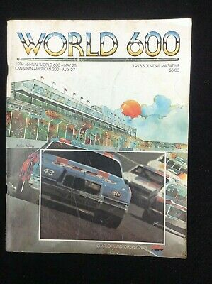 $14.99 • Buy NASCAR 1978 World 600 Week Official Program Charlotte Richard Petty Car Cover