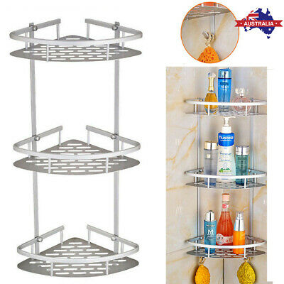 AU24.59 • Buy 3 Tier Shower Caddy Shelf Bathroom Corner Rack Storage Bath Holder Organizer