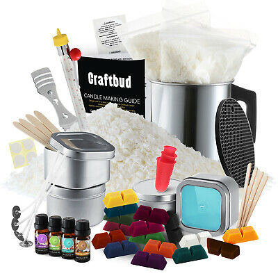 £36.21 • Buy Candle Making Kit, Soy Wax Flakes, Wicks, Pitcher, Fragrance Oil, 16 Color Dyes