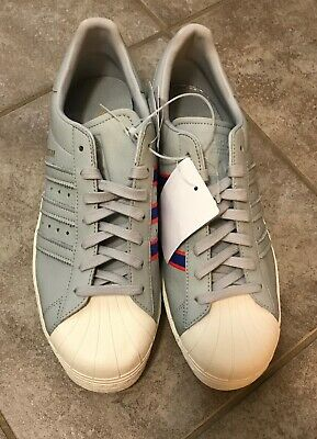 $ CDN59.99 • Buy ADIDAS Superstar Shoes Gray W Blue Red Stripes CQ2657 Men's US 9