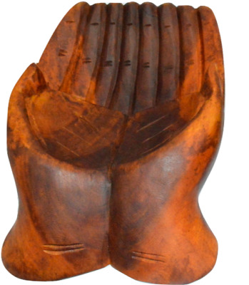 £14.99 • Buy Wooden Hand Shaped Palm Wood Nut/sweet Bowl Fairtrade Wood Snack Dish/bowl