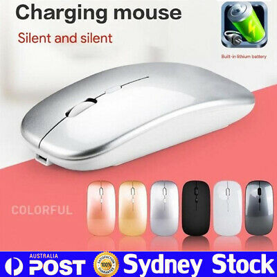 AU18.59 • Buy Ultra-Thin Bluetooth Wireless Rechargeable Mouse Optical Cordless Mice 1600 DPI