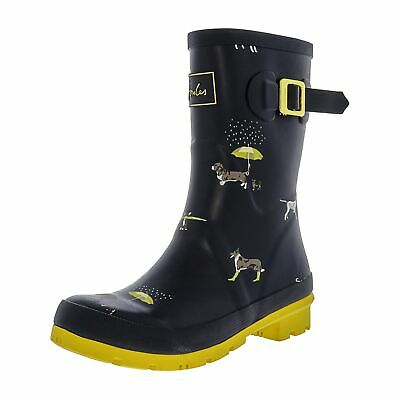 Joules Molly Welly Women Mid Calf Rain Boots Size US 8M Navy Rain Dogs • 33.77$