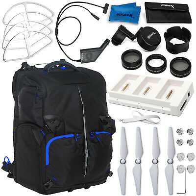 AU109.41 • Buy Accessory Bundle For DJI Phantom 4 Pro With Backpack Filter Kit Car Charger Hub