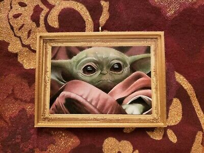 $8 • Buy Baby Yoda Inspired Art Handmade Ornament/Magnet/Dollhouse Mini