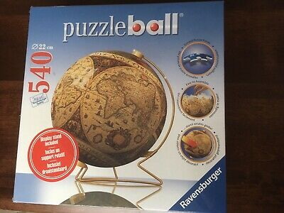 $30 • Buy NEW RAVENSBURGER 3D PHOTO WORLD GLOBE PUZZLE BALL WITH STAND, Appropriately 8.6""