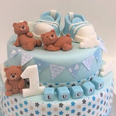 Christening Cake Decorations Toppers Baby Shower Edible Personalised Birthday • 9.99£