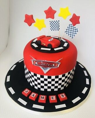 Lightning Mcqueen Cake Topper Edible Decoration Personalised Birthday Unofficia • 5.99£