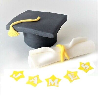 Graduation Cake Toppers Edible Decoration Personalised Birthday Unofficial Icing • 5.99£